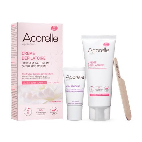 Acorelle depilační krém na obličej a citlivé zóny