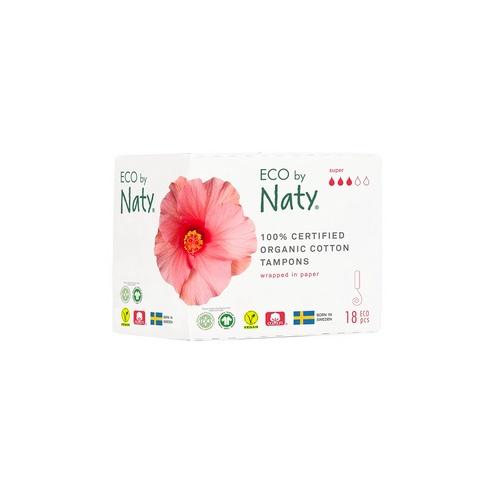 Eco by Naty dámské ECO tampóny Naty (18 ks) super
