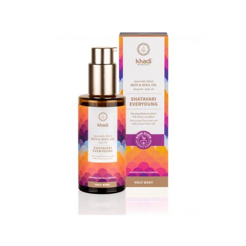 Khadi elixír olej pro pokožku a duši SHATAVARI EVERYOUNG - věčné mládí - 100 ml