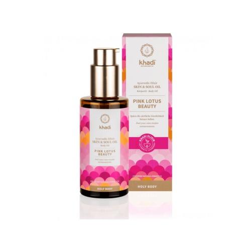 Khadi elixír olej pro pokožku a duši RŮŽOVÝ LOTOS KRÁSA - 100 ml
