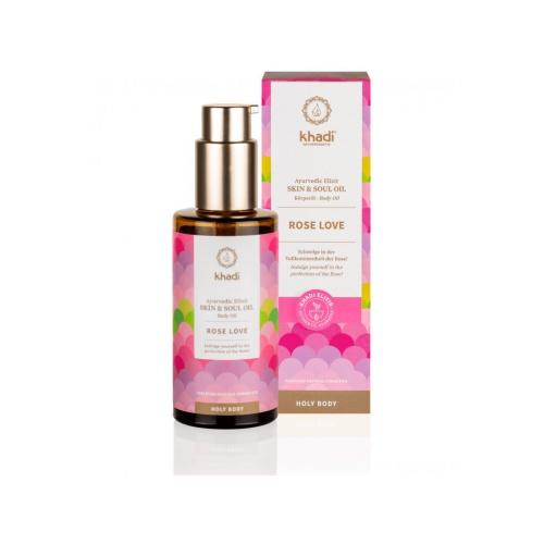 Khadi elixír olej pro pokožku a duši RŮŽE LÁSKA - 100 ml