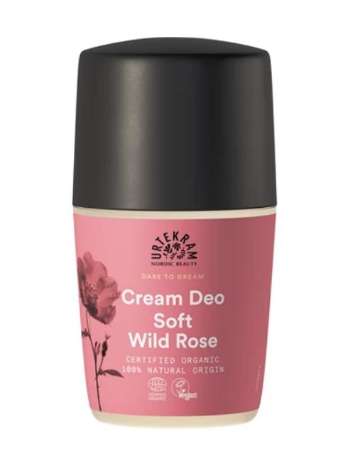Urtekram deodorant roll on krémový divoká růže 50 ml BIO
